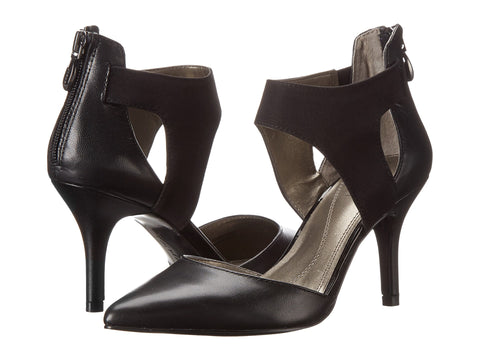 TAHARI Women's  •Corry•  Two-Piece Black Leather Pump - ShooDog.com