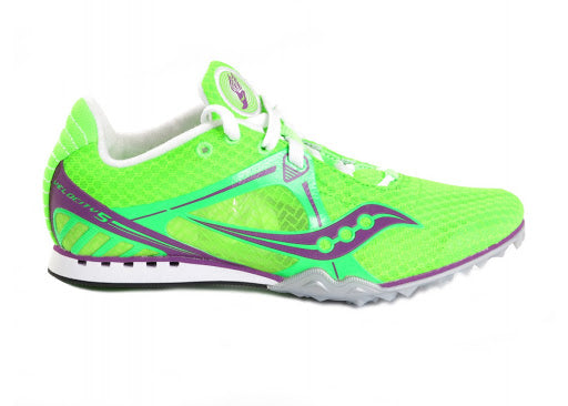 Saucony Women's Velocity 5 Track & Field Shoes/Spikes •Citron• - ShooDog.com
