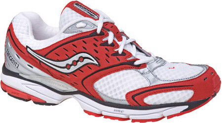 Men's Saucony Tangent 2 •White/Red/Black•  Running Shoe - ShooDog.com