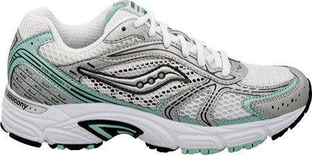 SAUCONY Women's Grid Cohesion 4 -Silver/Pink- Wide Width