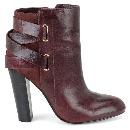Isola Women's Talen •Chianti Leather/Suede• Ankle Bootie - ShooDog.com