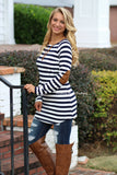 Right About Stripes Tunic - Navy
