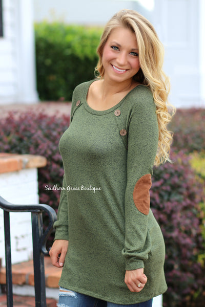 Face The Fall Sweater - Olive