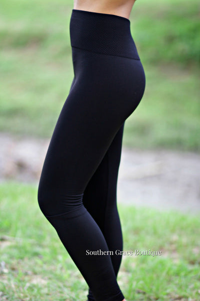 Tummy Control Fleece Leggings (available in multiple colors)