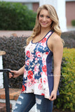 A Fresh Outlook Floral Tank - CLEARANCE
