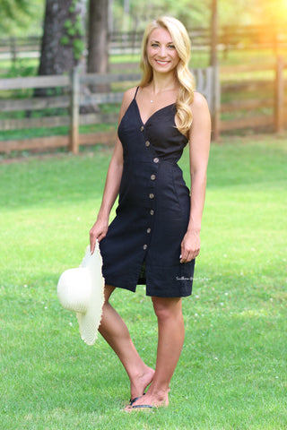 Pinot and Picnics Button Dress