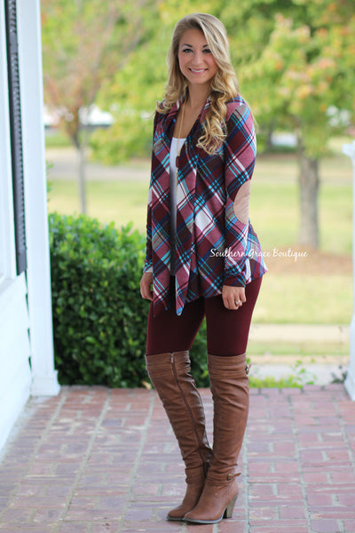 Crushing On Plaid Cardigan