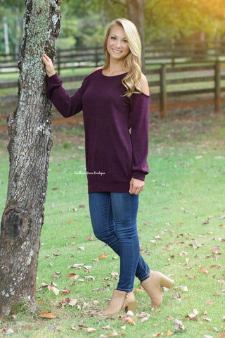 Cold-Shoulder Beauty Sweater
