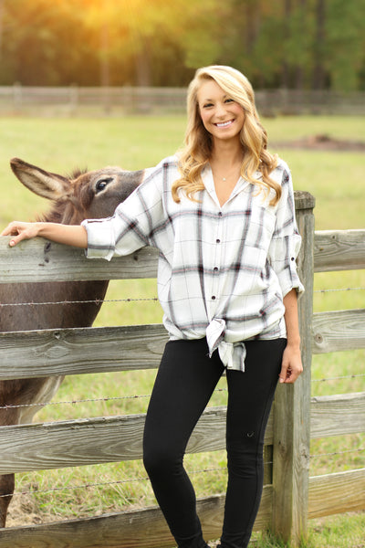 Country Cutie Plaid Tunic