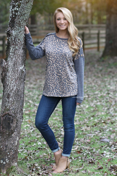 Wild For Winter Leopard Sweater - FINAL SALE ITEM!
