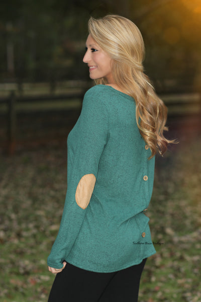 Patch Perfect Sweater, Emerald