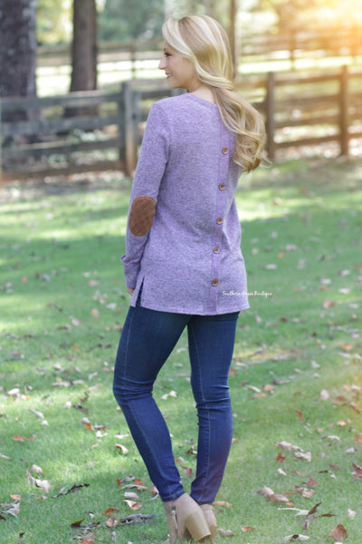 Patch Perfect Sweater - Plum