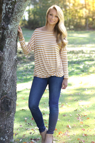 Fall Vibes Top - Mustard