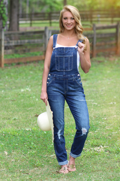 Move Forward KanCan Overalls, Denim CLEARANCE