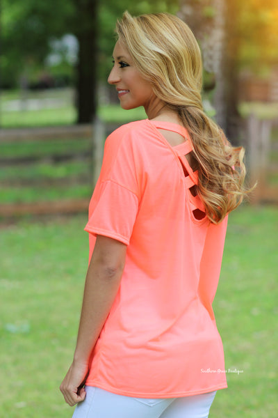 Fun Fridays Top, Hot Coral