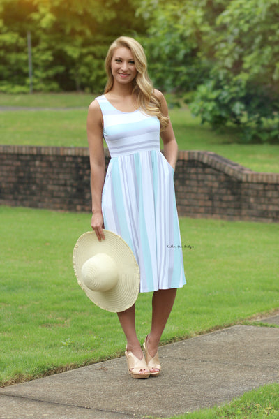 A Casual Stroll Midi Dress