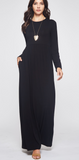 Fall Comfort Maxi Dress, Black PREORDER