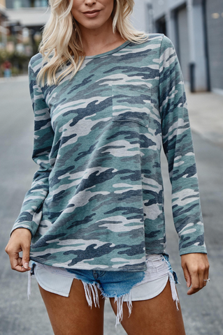This Is It Camo French Terry Top PREORDER