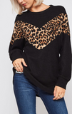 Over The Top Leopard Tunic Sweater PREORDER