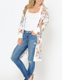 Floral Spring Dream Cardigan, White PREORDER
