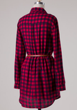 Flirting With Plaid Tunic Dress CLEARANCE