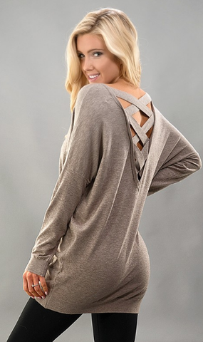 Crossing Paths Sweater - Mocha
