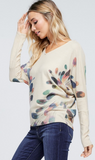 Fly Away Sublimation Knit Top, Oatmeal