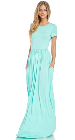 Oh So Comfy Days Maxi Dress, Mint
