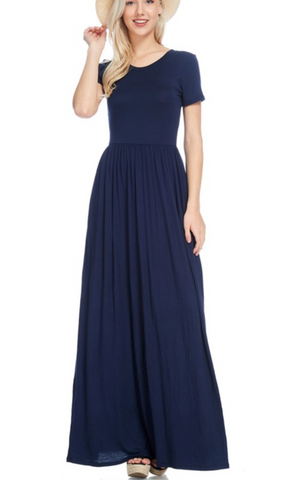 Oh So Comfy Days Maxi Dress - Navy