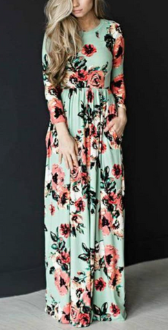 She's Blooming Maxi Dress, Mint