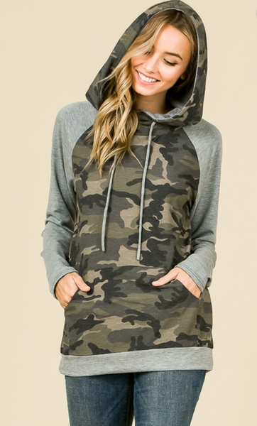 Covered in Camo Pullover