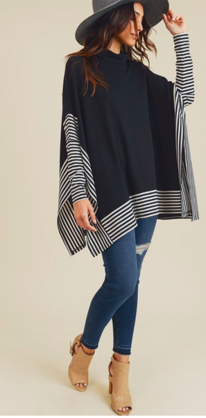 Warm Winters Poncho, Black