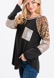 Sparkle and Sass Leopard Knit Top