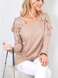 Ruffle Perfection Knit Top