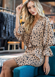 Lovely In A Leopard Print Dress CLEARANCE