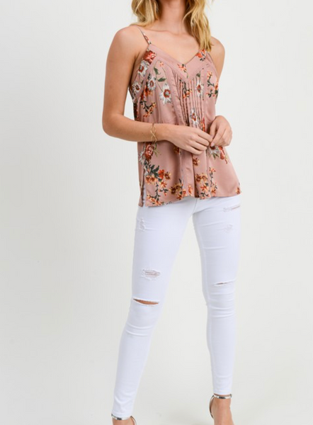 Patio Parties Floral Tank, Rose
