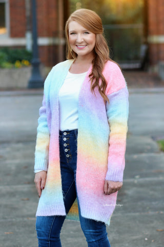 Catching The Vibes Tie Dye Cardigan
