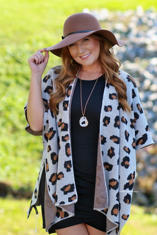 For The Record Leopard Cardigan