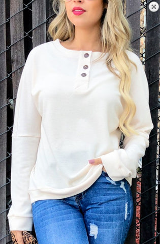 Give Me Comfort Knit Top, Ivory
