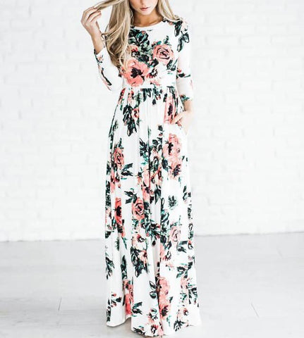 She's Blooming Maxi Dress, Ivory