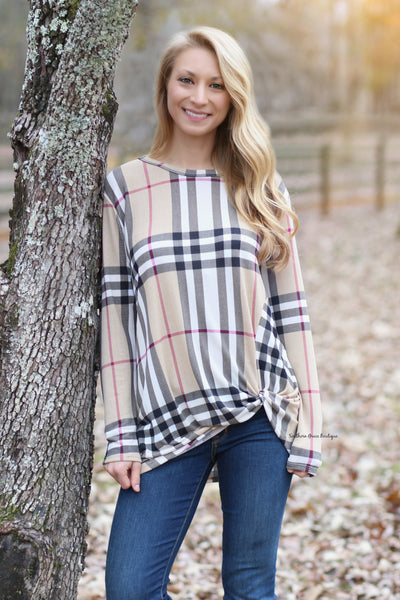 Twist & Plaid Top - FINAL SALE ITEM!