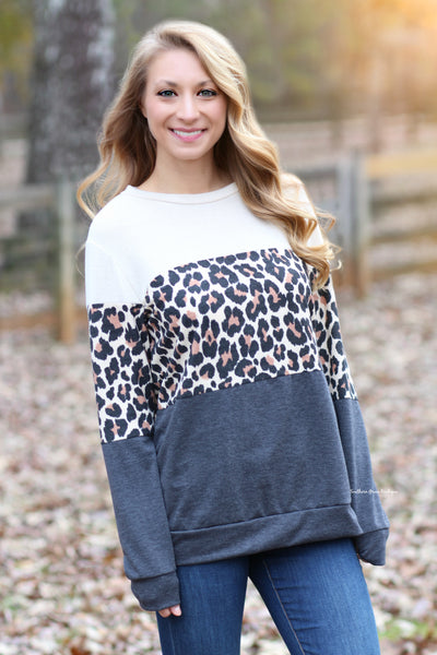 Wild About Leopard Sweater - FINAL SALE ITEM!