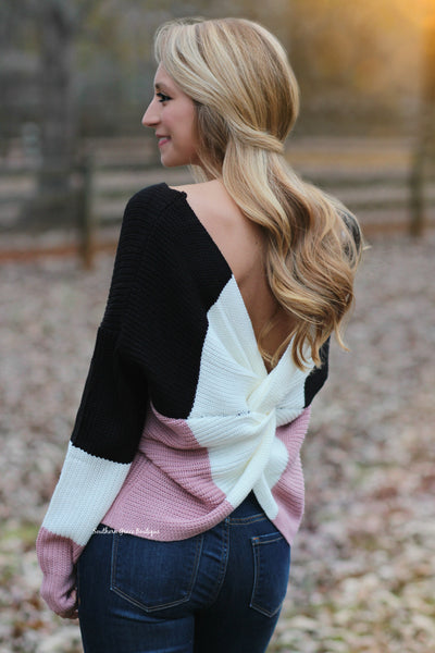 Ready Or Knot Sweater, Colorblock