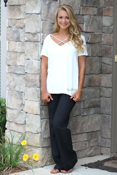 Perfectly Comfy Linen Pants - Black