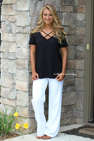 Perfectly Comfy Linen Pants - White