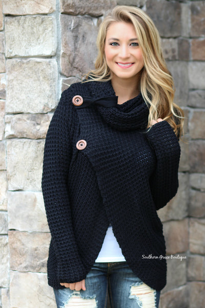 Winter On My Mind Sweater, Black