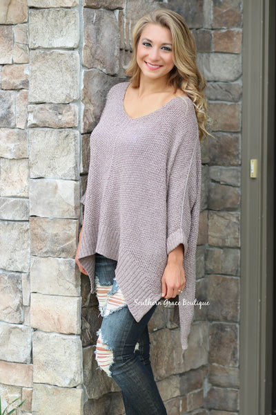 Cozy Oversized Sweater Days - Mocha