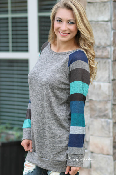 Fall Is In The Air Sweater - Blue