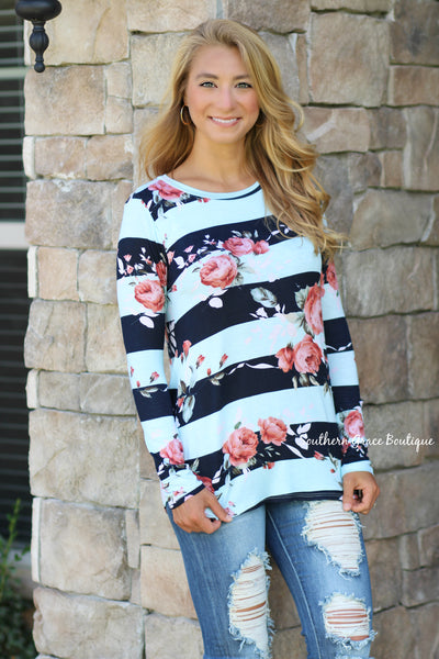 Hope For The Best in Floral Top