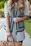 She's Sophisticated Herringbone Vest